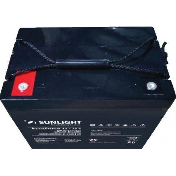 Μπαταρία Φωτοβολταϊκών SunLight AccuForce 12V – 75S Ah AGM