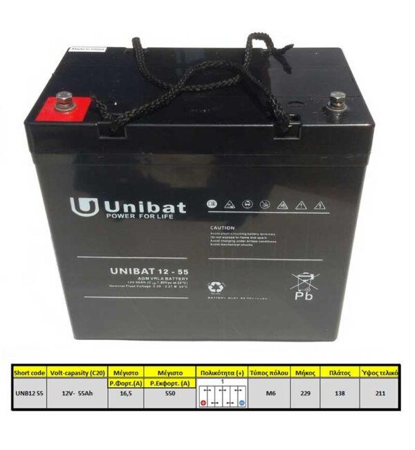 Unibatpower-for-life-VRLA-12V-55AH